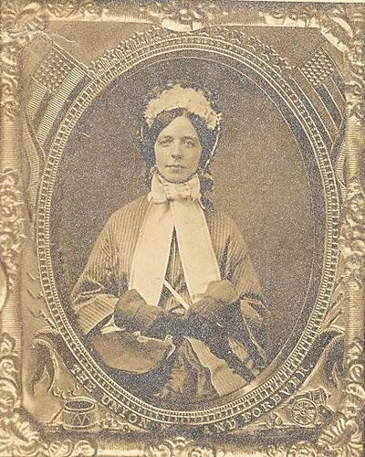Antique Photo of Civil War Era Lady With Parasol, Gloves, Hat, Purse. I believe she is wearing gauntlet style gloves. Very lovely