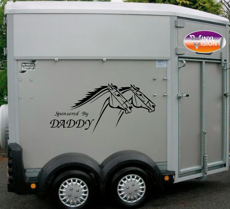 Sponsored by daddy for car lorry trailer horsebox stickers small size
