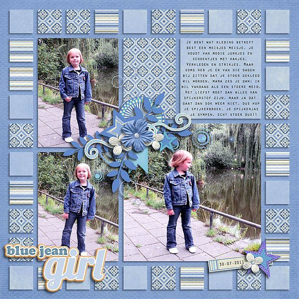 Use bits and pieces of Graphic 45 to create a vintage scrapbook layout like the squares for a border