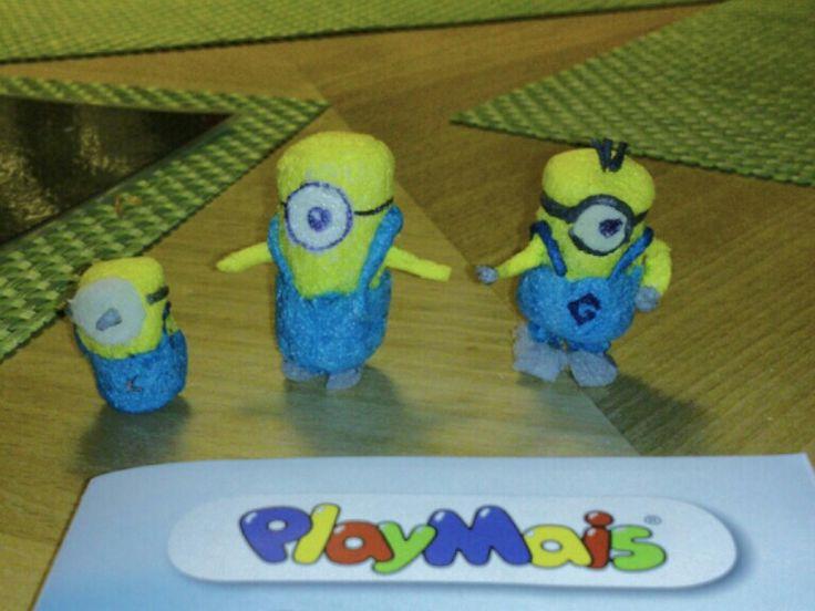 Minions aus PlayMais