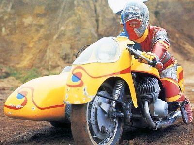 KIKAIDA Ride on SIDE-MACHINE. Kawasaki H2 powered 750 two stroke, whirling death machine !