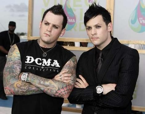 Benji and Joel Madden. Forgot how much I loved this look on joel
