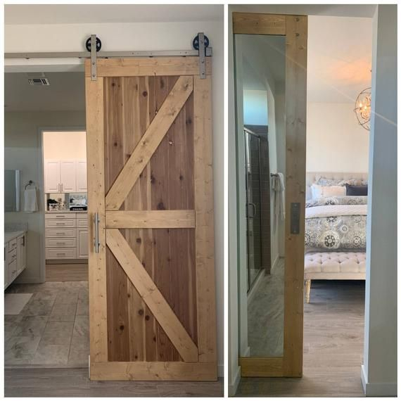 Hybrid Door Framed British Brace Mirrored Door Weathered Etsy In 2020 Door Frame Weathered Oak Sliding Barn Door