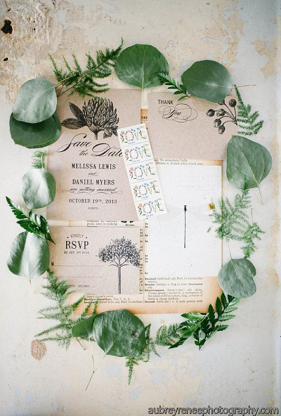 Botanic Garden Wedding Invitations Printable Template Set of 4 on Etsy, $85.00