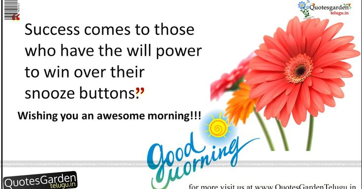 Best Good morning Quotes about success and victory