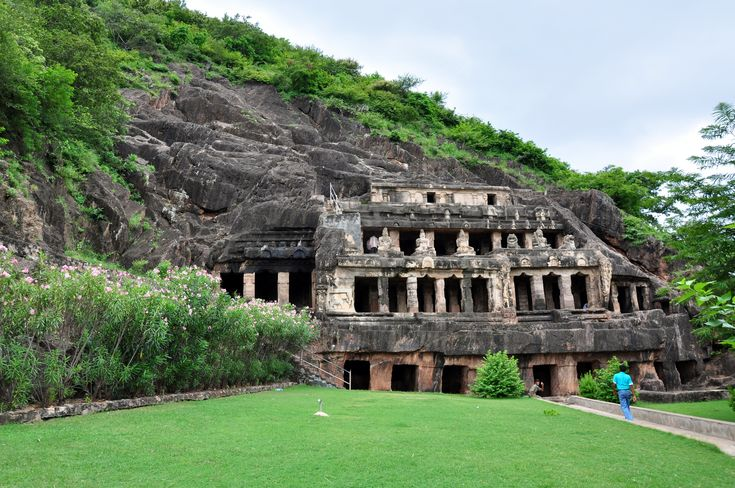 The Undavalli caves near Vijayawada, famous for some great sculptures.
