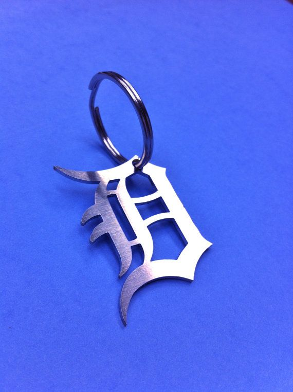 So cool! Need this!! DETROIT Tigers Stainless Steel Keychain Old by wiresandstones, $12.00