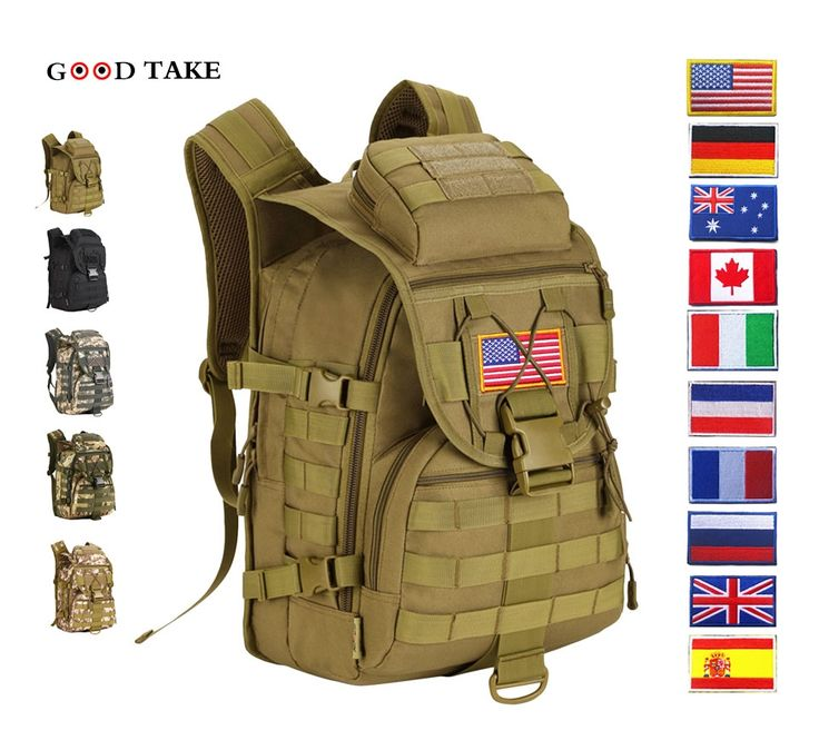 81.60$  Watch now - http://alif5k.shopchina.info/1/go.php?t=32813057667 - 2017 Mochilas Mochila Escolar Goodtake 40l Waterproof Molle Backpacks Military 3p Tactics Backpack Assault Nylon Travel Bag 81.60$ #aliexpresschina