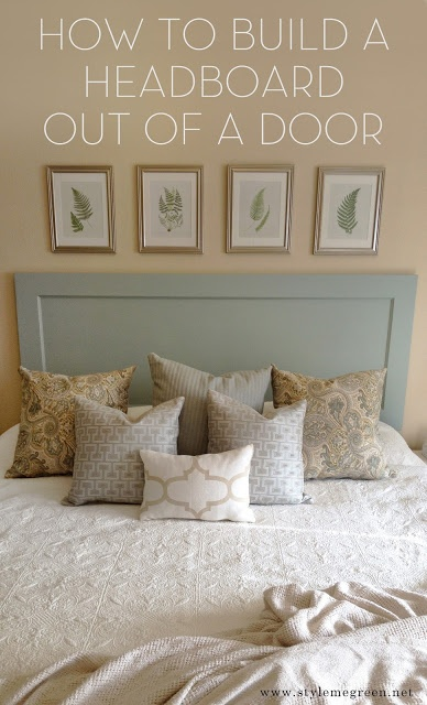 Simple steps on making your own headboard from an old door