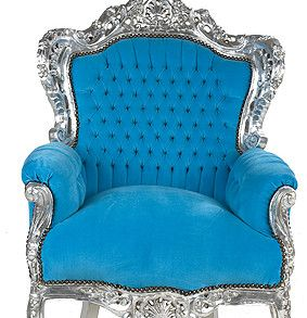 Barok chair.blue-silver