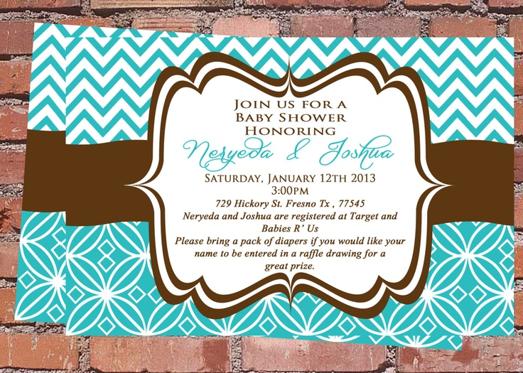 tiffany blue brown baby shower invitation baby shower invitations