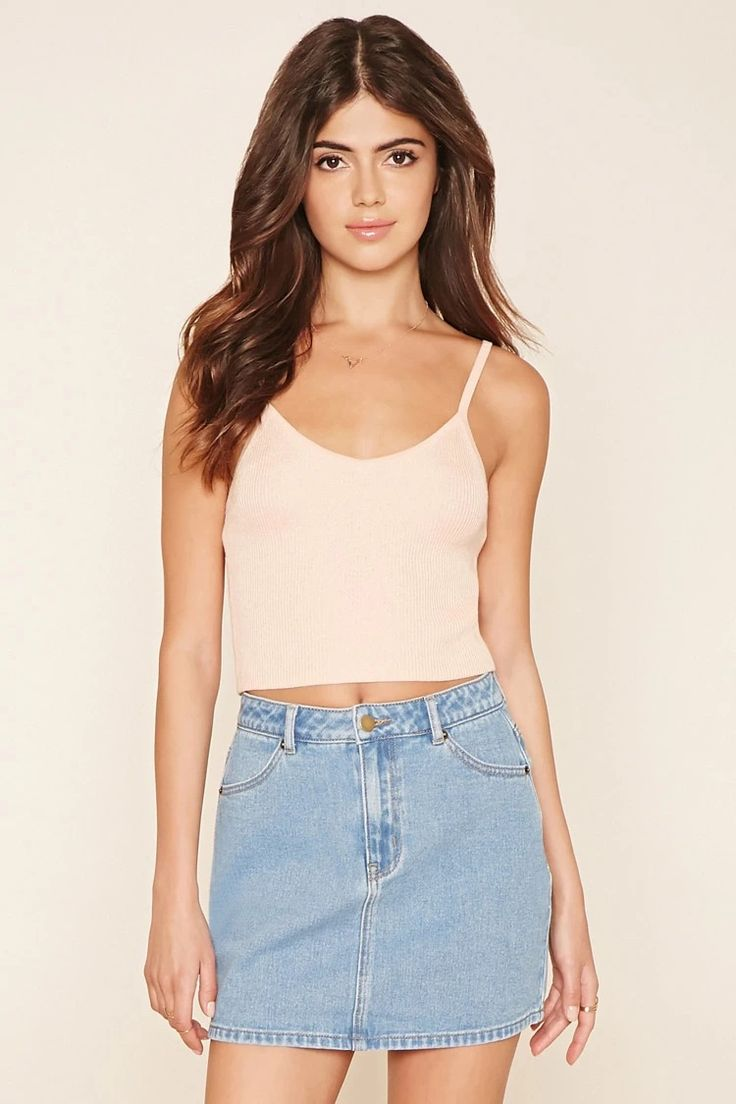 Style Deals - A denim mini skirt featuring a four-pocket construction and a zip fly. #f21denim