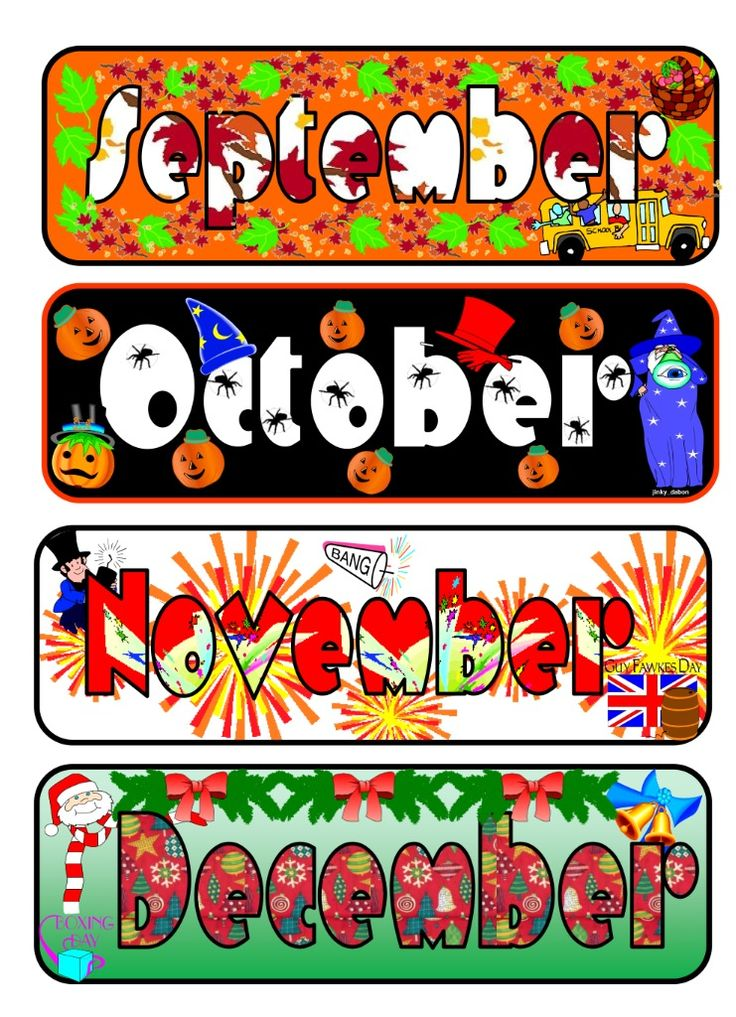 Classroom Calendar Days Of The Year : Images about months of the year on pinterest page