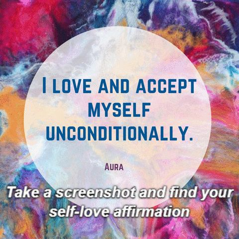 Take a screen shot and find your selflove affirmation