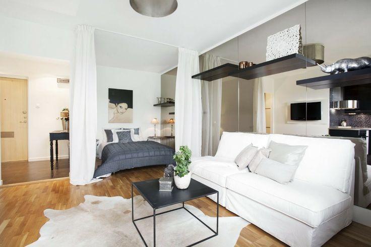 Как совместить гостиную и спальню - актуальный вопрос для владельцев небольших квартир. Читайте в статье, как зонировать пространство и расставить мебель - simply beautiful