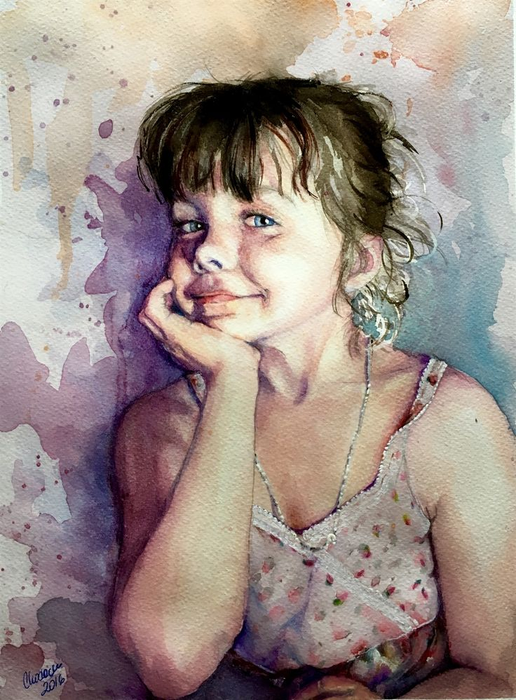 Julia, watercolour portrait by Martyna Chodacka
