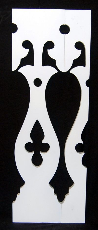 baluster design, similar to many in the neighborhood.