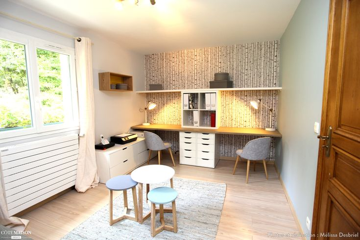 Bureau chambre d'amis, Jambville, Mélissa Desbriel - décorateur d'intérieur