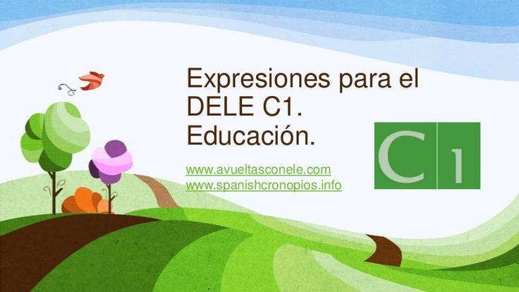 Expresiones para el DELE C1- Educación