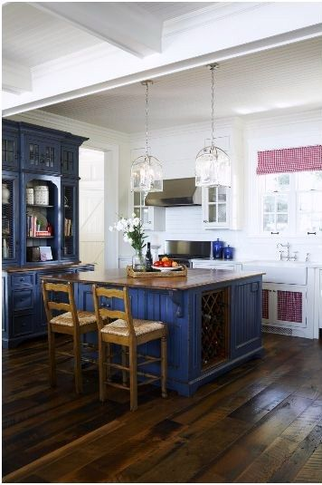 country cottage blue kitchen cabinets home pinterest