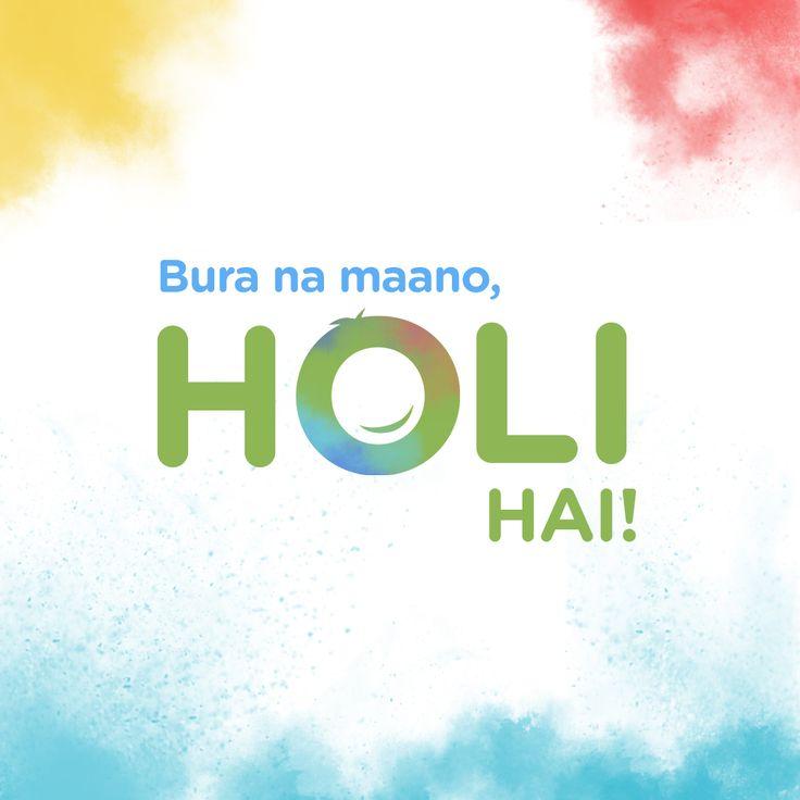 Show your love & affection with colours! 🎊  Happy #Holi! -> https://goo.gl/Y84MJg   #HappyHoli #HoliFestival #BuraNaManoHoliHai #HoliHai
