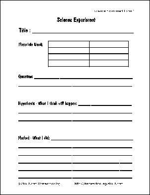 Free Printable Science Report Forms For Homeschoolers Stuff Experiments Projects Kids Clroom