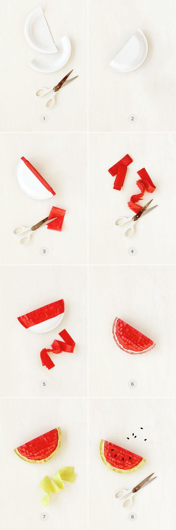 DIY Watermelon Pinatas
