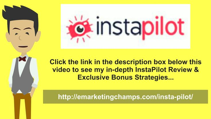InstaPilot Review - https://www.youtube.com/watch?v=xtmkBSfbCeA - InstaPilot Bonus - •Video and book trailer uploads—You have the opportunity as a self-publishing author to create video trailers to advertise your books online. You can display them on the Author Pages section. You just have to make a very short video that lets the readers know what the book about and use it to entice them to want more