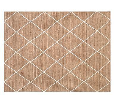 Jute Lattice Rug - Flax/Ivory #potterybarn