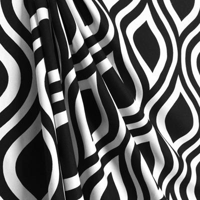 Premier Prints Emily Black/White Fabric