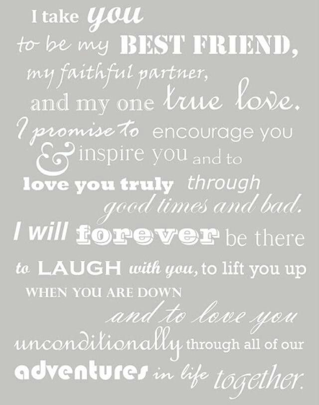 Sweet vows :)