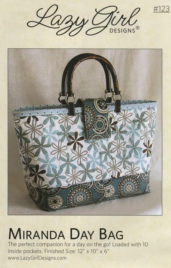 ba11cc5154e4 Miranda Day Bag Pattern by Joan Hawley Lazy Girl Designs