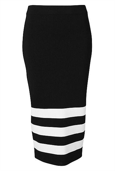 Stripe Flute Skirt