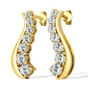Diamant Ohrringe aus 585er Gelbgold mit 1.00 Karat Diamanten. Diese Diamantohrringe sind für nur 1299.00 Euro bei www.juwelierhausabt.de erhältlich.