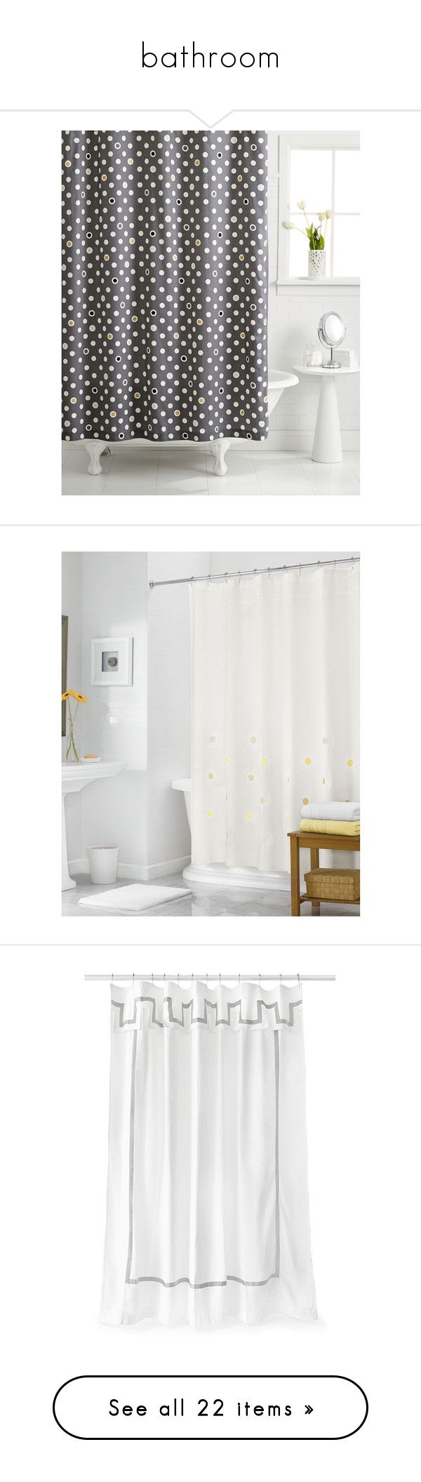 Gray and white polka dot curtains -  Bathroom By Hollyparrish2002 Liked On Polyvore Featuring Home Bed Bath Bath Shower Curtains Grey Polka Dot Shower Curtains Martha Stewart