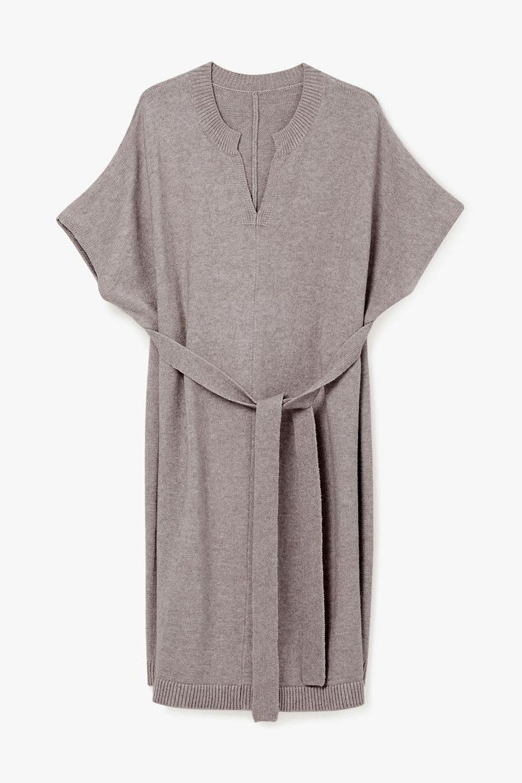 from Genuine People · Tie Knit Midi Shirt Dress