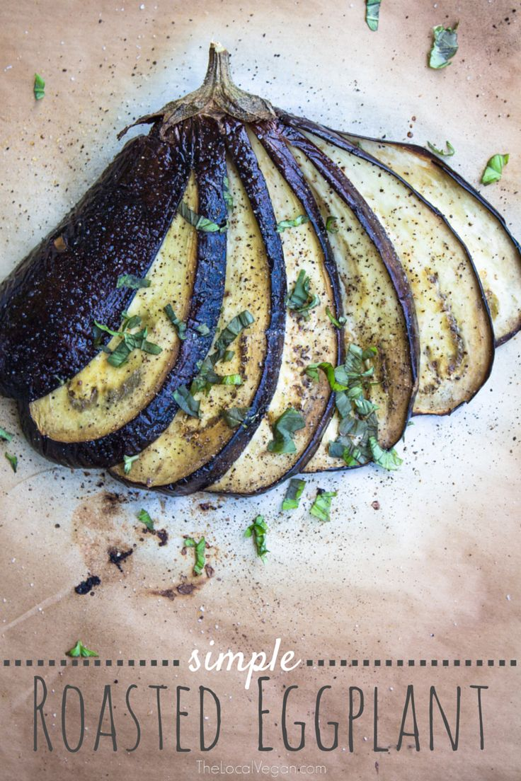Beautiful presentation making Roasted eggplant look very gourmet.   For those who think eggplant is too bitter, I challenge  you to give this recipe a try with a young, fresh eggplant and see if your mind changes. Salting the eggplant before cooking, helps to draw out the  bitter juices & then finishing by roasting will bring out the sweetness. A perfect way to enjoy this beautiful fruit.   -this is a beautiful dish to serve as a appetizer, side dish, or even as ...