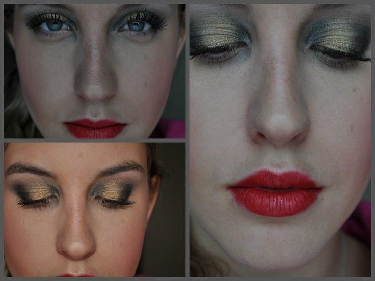 golden black smokey eye duo chrome trend mac ruby woo  http://www.youtube.com/watch?v=CLEOoYcDSYM