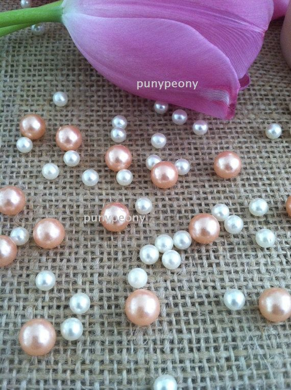 150 Pcs Pearls Ivory Light C Peach For Table Ters Confetti And Wedding Decors
