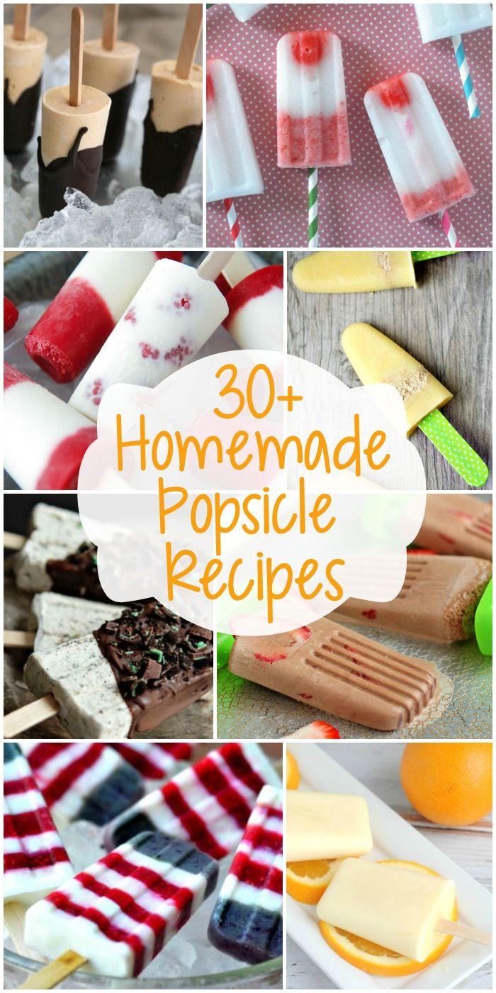 30+ Homemade Popsicle Recipes // 30 recetas de helado de palito