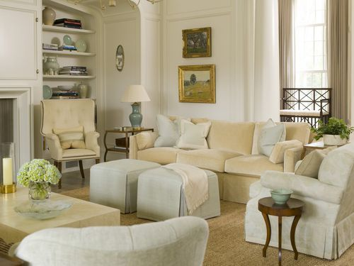 gorgeous colors in this living room from Phoebe Howard