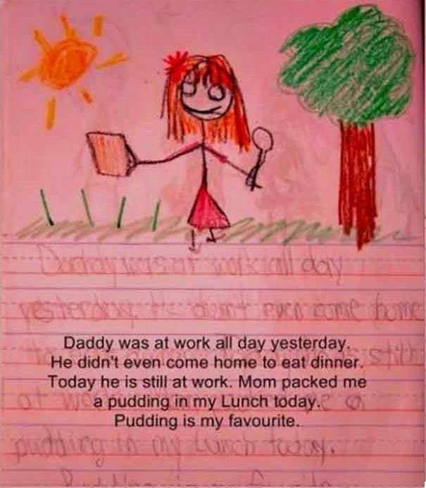Kid Writes Very Creepy Story
