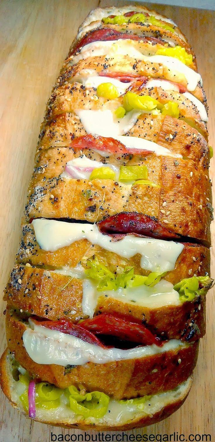 Italian Deli Crazy Bread - BestFoodRecipes