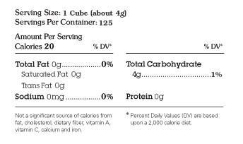 Nutrition Facts | Sugar In The Raw | Turbinado Sugar Cubes | Ingredient: Cane sugar | #whatsugar #sugarintheraw