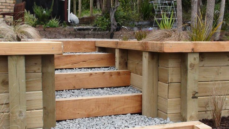 Macrocarpa featured retaining wall