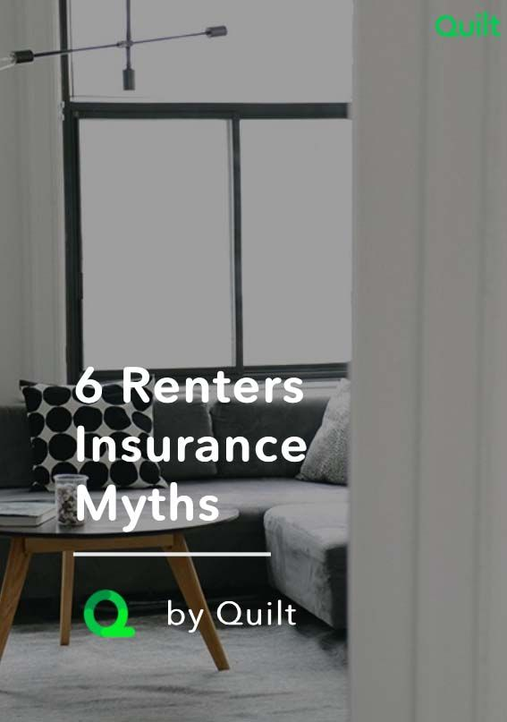 There are a lot of misconceptions when it comes to renters insurance. Here are 6 of the biggest myths, and the truth behind them #myths #renters #apartment #didyouknow #getquilt #quiltlife #biggestmyths #insurance