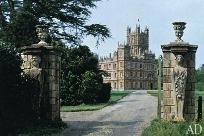 Highclere Castle, the exterior of Downton Abbey