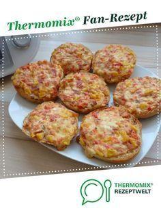 Pizzabrötchen / Gemüse- und Sauerrahmbrötchen / Pizzabrötchen   – Thermomix