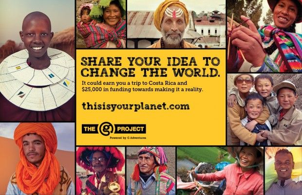 If you've got an idea to make the world better, we want to hear it. G Adventures and the Planeterra Foundation are offering you the chance to make your world a little more perfect with the G Project
