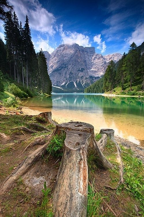 lake braies. Dolomiti, Italy.